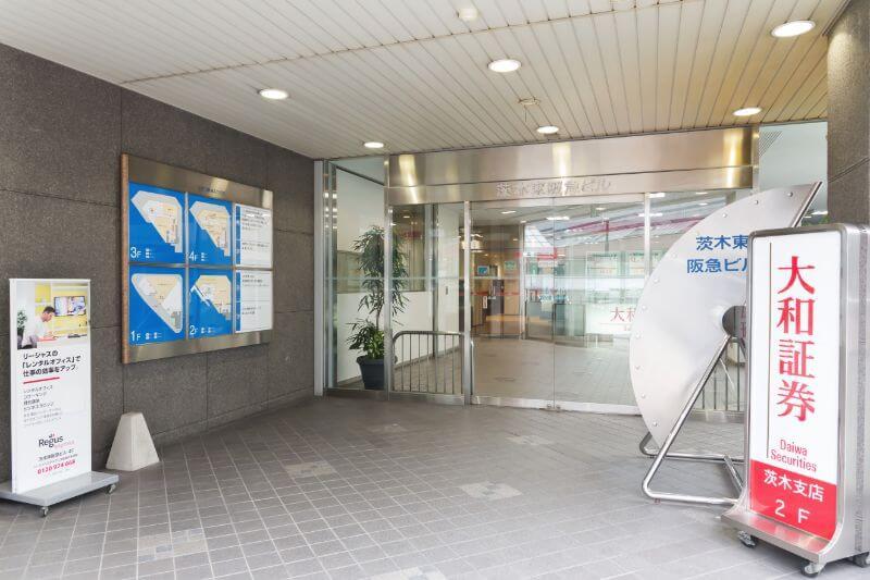 弁護士法人茨木太陽への道順・茨木東阪急ビル入口