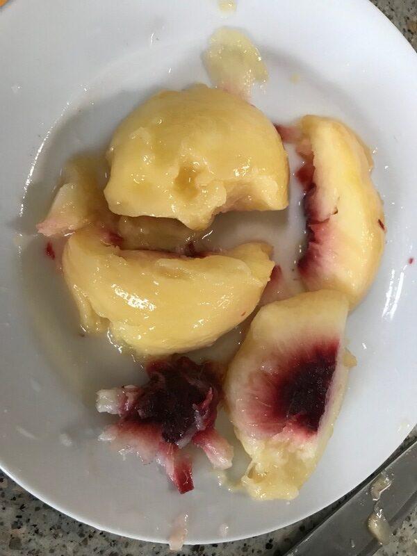 桃の種取り